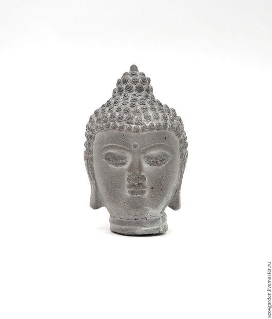 Статуэтки ручной работы. Ярмарка Мастеров - ручная работа. Купить Голова Будды из бетона маленькая для флорариума мини-садика. Handmade.