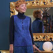 "Одежда ручной работы. Ярмарка Мастеров - ручная работа валяный сарафан  ""Blue"". Handmade."
