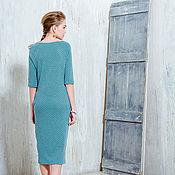 Одежда ручной работы. Ярмарка Мастеров - ручная работа Небесное трикотажное платье. Handmade.