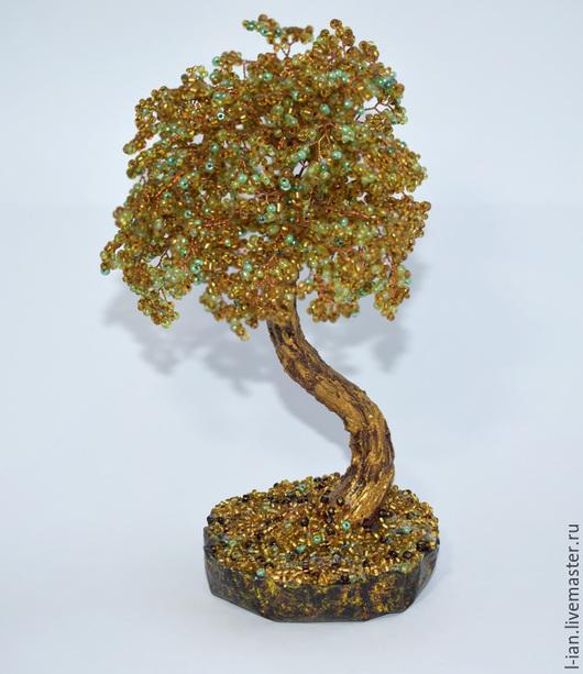 """Деревья ручной работы. Ярмарка Мастеров - ручная работа. Купить Бисерное дерево """"Золотая осень"""". Handmade. Золотой, золотое дерево"""
