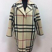 Одежда ручной работы. Ярмарка Мастеров - ручная работа Пальто из клетки Бербери. Ткань в наличии на 2 экз.. Handmade.