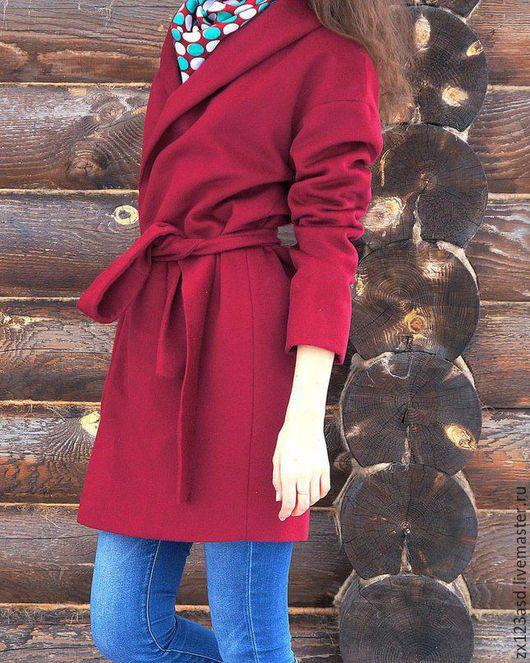 Верхняя одежда ручной работы. Ярмарка Мастеров - ручная работа. Купить Пальто из шерсти Max Mara. Handmade. Бордовый, марсала