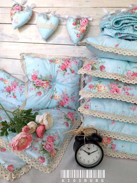 Детская ручной работы. Ярмарка Мастеров - ручная работа. Купить Комплект в кроватку: подушки, простынь и одеяло Luxury flower. Handmade.