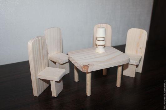 Кукольный дом ручной работы. Ярмарка Мастеров - ручная работа. Купить Набор деревянной кукольной мебели. Handmade. Бежевый