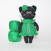 Куклы и игрушки ручной работы. Ярмарка Мастеров - ручная работа Кошка вязаная. Handmade.