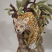 Для дома и интерьера handmade. Livemaster - original item Vase Leopard. Handmade.