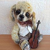 Куклы и игрушки ручной работы. Ярмарка Мастеров - ручная работа Щенок тедди.Маленький музыкант. Handmade.