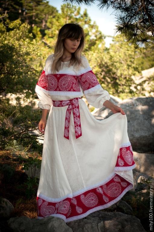 Платье `индийский огурец`