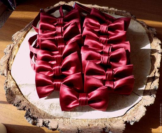 Галстуки, бабочки ручной работы. Ярмарка Мастеров - ручная работа. Купить Галстук-бабочка в цвете марсала. Handmade. Однотонный