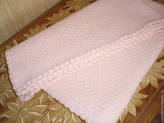 Для новорожденных, ручной работы. Ярмарка Мастеров - ручная работа. Купить Детский плед Розовое облако продан. Handmade.