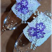 """Свадебный салон ручной работы. Ярмарка Мастеров - ручная работа Свадебные бокалы """"Сиреневая мечта"""". Handmade."""