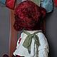 Мишки Тедди ручной работы. Ярмарка Мастеров - ручная работа. Купить Мишка СвЁколка.. Handmade. Бордовый, винтажный плюш