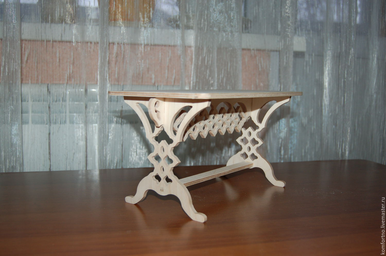 Puppet table.295. Blank for decoupage and painting.