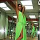 """Платья ручной работы. Заказать Платье """"Яркое Летнее Салатовое"""" в любых цветах и размерах. Анна Сердюкова. Дом Моды SEANNA (4). Ярмарка Мастеров."""