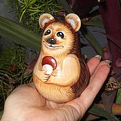 Куклы и игрушки handmade. Livemaster - original item Roly-poly - music-eared Hedgehog very Well. Handmade.