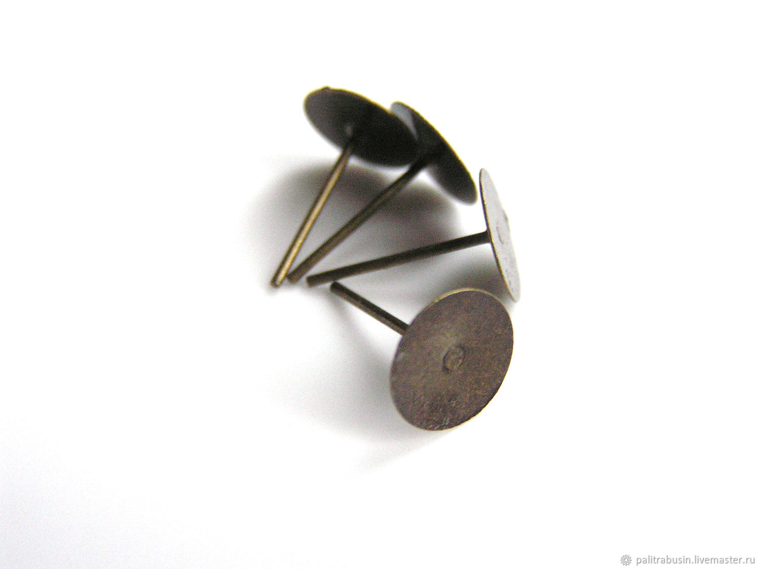 Foundation studs for earrings color-bronze, Blanks for jewelry, Tyumen,  Фото №1
