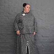 Одежда handmade. Livemaster - original item Jumper grey melange cotton footer. Handmade.