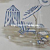"""Материалы для творчества ручной работы. Ярмарка Мастеров - ручная работа Хлопок холст """"На море"""". Handmade."""