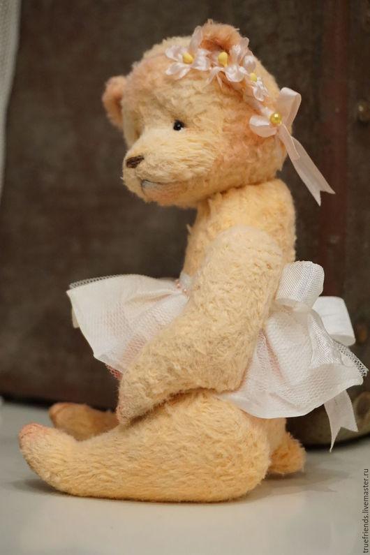 Мишки Тедди ручной работы. Ярмарка Мастеров - ручная работа. Купить Apricot Flower. Handmade. Бежевый, авторский мишка