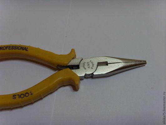 Другие виды рукоделия ручной работы. Ярмарка Мастеров - ручная работа. Купить Пассатижи с тонкими носиками ( желтые ручки). Handmade.
