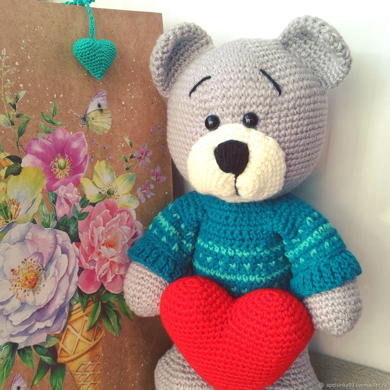 Мишка с сердцем, Мягкие игрушки, Улан-Удэ,  Фото №1