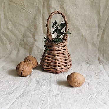 Для дома и интерьера ручной работы. Ярмарка Мастеров - ручная работа Декоративная корзиночка. Handmade.