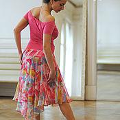 Одежда handmade. Livemaster - original item Pink skirt. Pink top. Handmade.