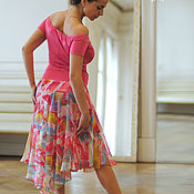 Одежда ручной работы. Ярмарка Мастеров - ручная работа Розовая Юбка. Розовый Топ. Handmade.