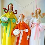 Для дома и интерьера ручной работы. Ярмарка Мастеров - ручная работа Хранительницы дисков и палочек куклы тильды. Handmade.