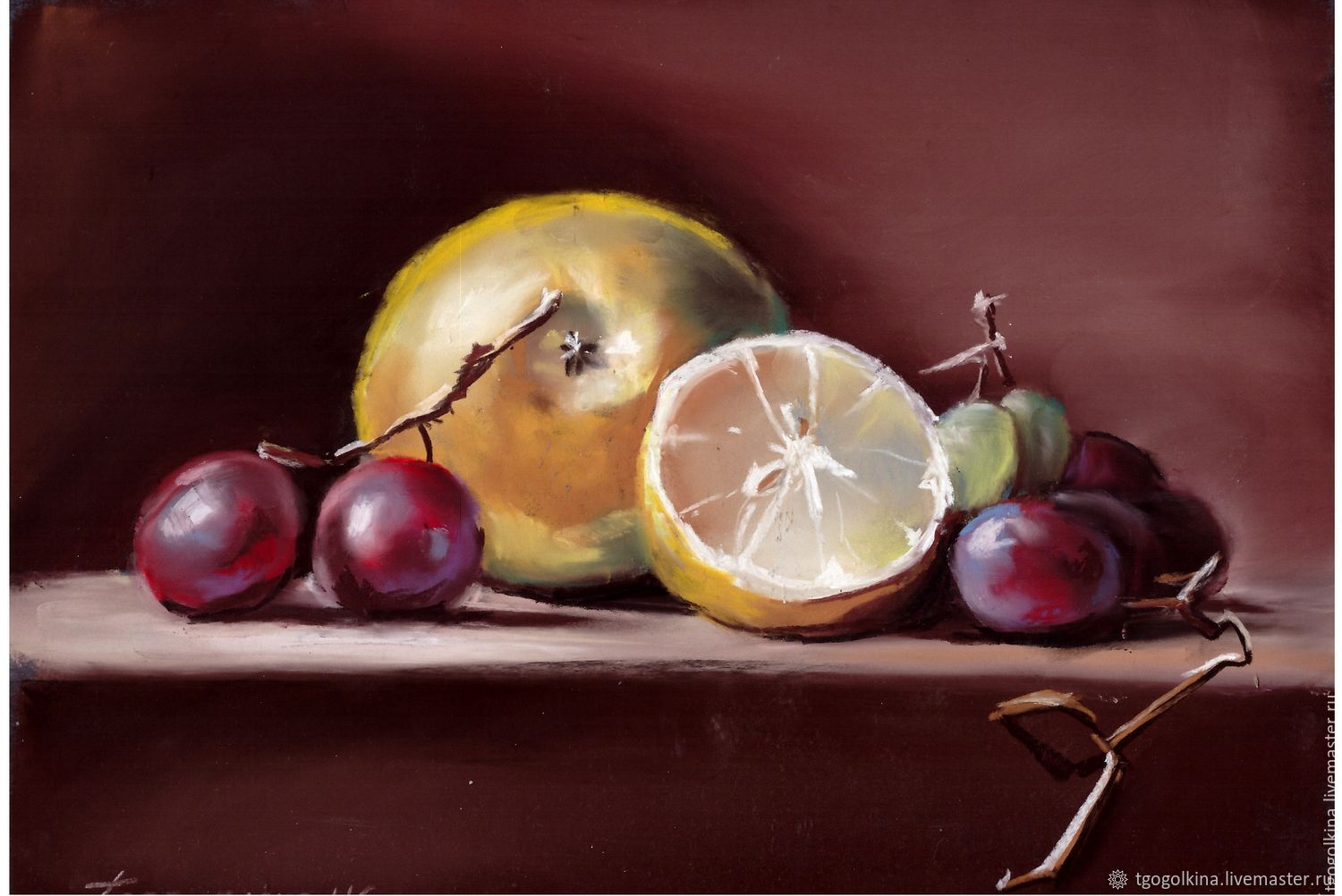 Painting Fruit pastels still life, Pictures, Moscow,  Фото №1