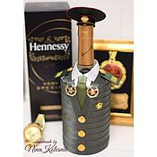handmade. Livemaster - original item Decoration of bottles for the military A gift to an officer a military man. Handmade.