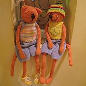 Куклы и игрушки ручной работы. Ярмарка Мастеров - ручная работа Коты Сплин и Марли. Handmade.