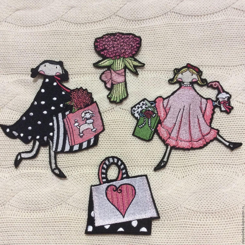 Аппликации ручной вышивкой