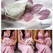 """Украшения ручной работы. Ярмарка Мастеров - ручная работа Брошь шелковая роза """"Танец розового фламинго"""". Цветы из ткани. Handmade."""
