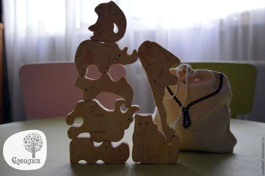 """Развивающие игрушки ручной работы. Ярмарка Мастеров - ручная работа. Купить Балансир """"Зверюшки"""". Развивающая деревянная игрушка.. Handmade."""