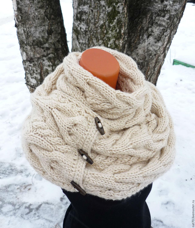 Снуд спицами для женщин: схемы вязания, новинки, узоры, размеры 73