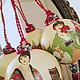 """Подвески ручной работы. """"Женщины"""" Интерьерные шары.. Елена Гвоздева. Ярмарка Мастеров. Большие шары, подарок девушке, бордовый, Декупаж"""