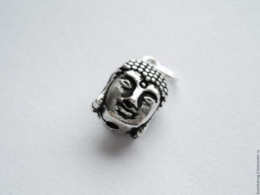 Для украшений ручной работы. Ярмарка Мастеров - ручная работа. Купить Подвеска голова Будды серебро 925 проба, 11/10мм. Handmade.