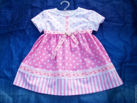 """Одежда для девочек, ручной работы. Ярмарка Мастеров - ручная работа. Купить платье """"Карамелька"""". Handmade. Бледно-розовый, хлопок"""