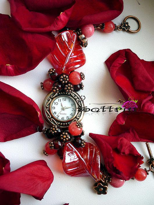 """Часы ручной работы. Ярмарка Мастеров - ручная работа. Купить Часы """"Варенье из Лепестков Роз"""". Handmade. Розы, часы на браслете"""