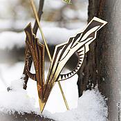 """Украшения ручной работы. Ярмарка Мастеров - ручная работа Заколка """"Символ"""". Handmade."""