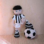 Куклы и игрушки handmade. Livemaster - original item Football player doll gift for football fans. Handmade.