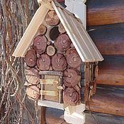 """Для домашних животных, ручной работы. Ярмарка Мастеров - ручная работа """"Сливка""""-домик для птиц. Handmade."""