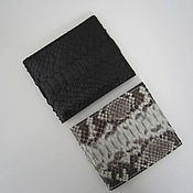 Сумки и аксессуары ручной работы. Ярмарка Мастеров - ручная работа портмоне-бумажник из кожи питона. Handmade.