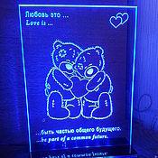 Подарки к праздникам ручной работы. Ярмарка Мастеров - ручная работа Сувенир для любимого Мишки love is. Handmade.