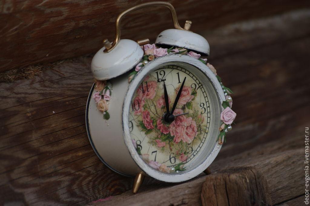 Clock,shabby chic,shabby chic clock,rustic decor,bedroom decor,retrо, Alarm Clocks, Moscow,  Фото №1
