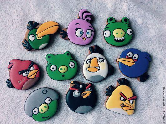 Персональные подарки ручной работы. Ярмарка Мастеров - ручная работа. Купить Пряник Angry Birds. Handmade. Angry birds