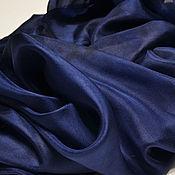 """Аксессуары ручной работы. Ярмарка Мастеров - ручная работа Палантин  """"Королевский синий"""" батик, 100% шелк. Handmade."""