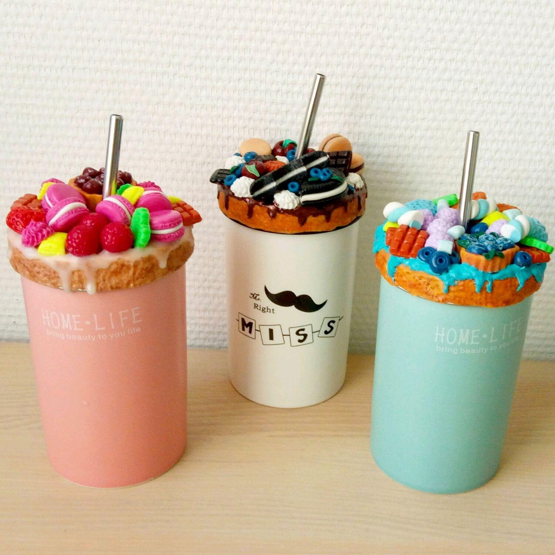 Керамический стакан с декором из полимерной глины, Кружки и чашки, Ногинск,  Фото №1