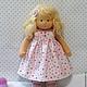 Вальдорфская игрушка ручной работы. Куколка для Юли, 29 см. svetlana. Ярмарка Мастеров. Детская кукла, кукла текстильная, мохер